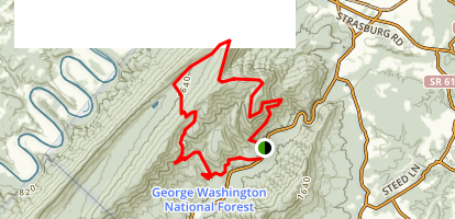 Signal Knob Loop Trail Map
