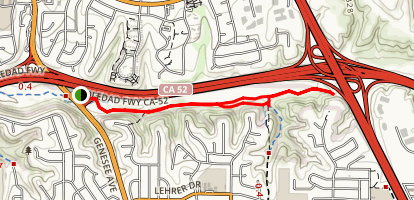 San Clemente Canyon Trail Map
