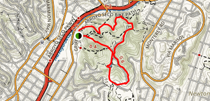 Debs Park: City View and Walnut Forest Trails Map