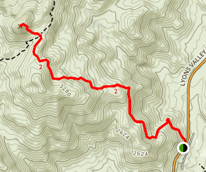Lawson Peak Trail Map