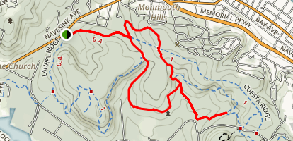 Hartshorne Woods: Grand Tour Trail Map