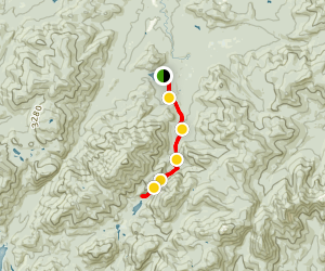 Avalanche Pass and Avalanche Lake Trail Map