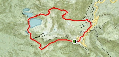 Chain Lakes Loop Trail Map