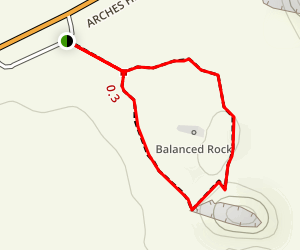 Balanced Rock Loop Trail Map