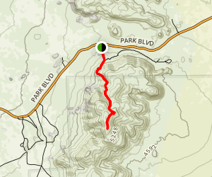 Ryan Mountain Trail Map