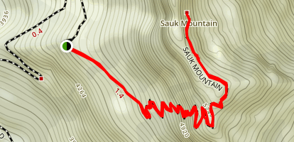 Sauk Mountain Trail Map
