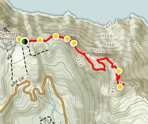 Garfield Peak Trail Map