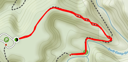 Rock Bridge Trail Out and Back Map
