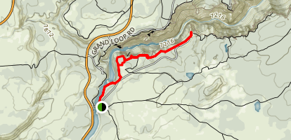 Upper Falls, Lower Falls and Crystal Falls Trail Map