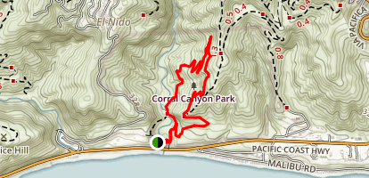 Corral Canyon Loop Trail Map