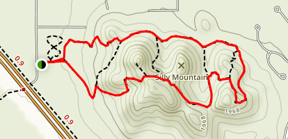 Silly Mountain Trail Map