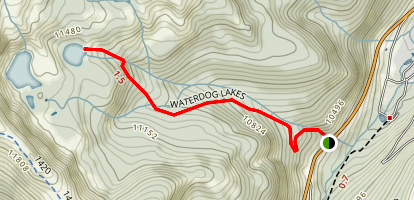 Waterdog Lakes Trail Map