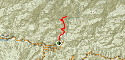 Shoemaker Canyon Road, East Fork San Gabriel River Map