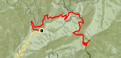Telegraph Peak via Manker Flat and Baldy Notch Map