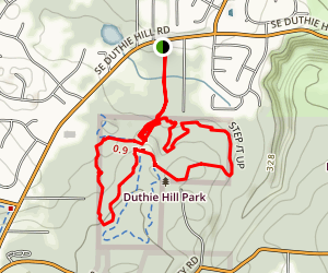 Duthie Mountain Bike Park Map