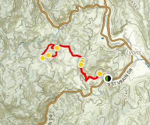 Hall Ranch, Bitterbrush and Nelson Loop Trail  Map