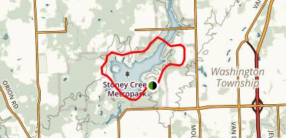 Stony Creek Metropark Trails Map