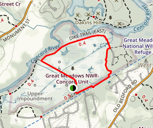 Dike Trail  Map