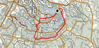 Red Loop Trail and Cross Country Trail Loop Map