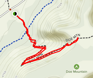 Doe Mountain Trail Map