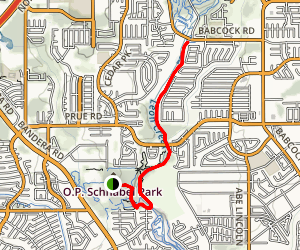Leon Creek Greenway Trail Map