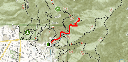 Rubio Canyon Trail Map