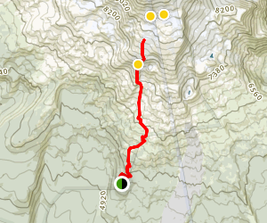 Mount Adams South Climb Trail Map