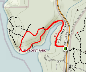 Ellis Cove Trail Map
