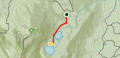 Angora Lakes Trail Map