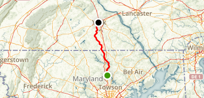 Northern Central Railroad Trail to York County Heritage Trail Map