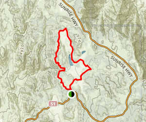 Sunset Trail to Laguna Meadows Loop Map