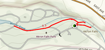 Lower & Upper Akron Falls                           Map