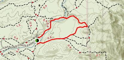 Canyon Loop Trail - Catalina State Park Map