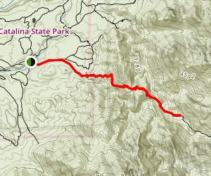 Romero Canyon Trail to Romero Pools Map