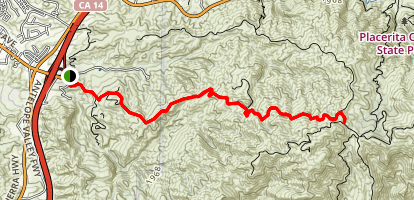 Whitney Canyon: Santa Clara Truck Trail (aka 'The Beast') Map