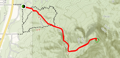 Pusch Peak via Linda Vista Trail Map