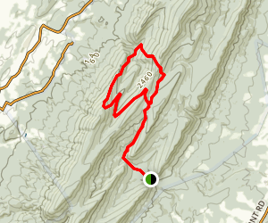 Fridley Gap Trail Map