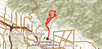 Brown Mountain/El Prieto Trail Map