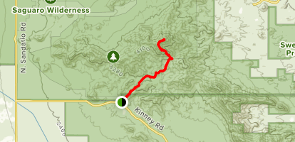 King Canyon Trail to Wasson Peak Map