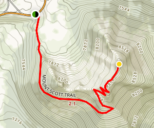 Mount Scott Trail Map