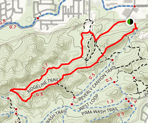 Javelina-Beverly Canyon Loop Trail Map