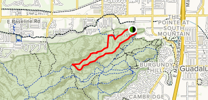 Javelina Canyon and Ridgeline Loop Trail Map