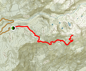 Alta Peak Trail Map