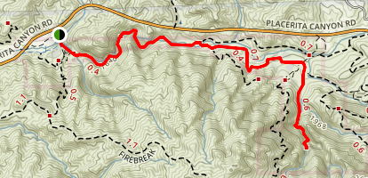 Placerita Canyon to Waterfall Trail (CLOSED) Map