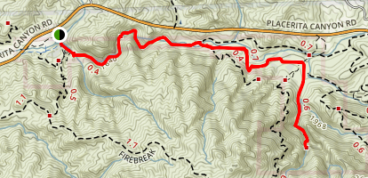 Placerita Canyon to Waterfall Trail [CLOSED] Map