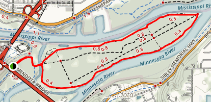 Pike Island Loop Map