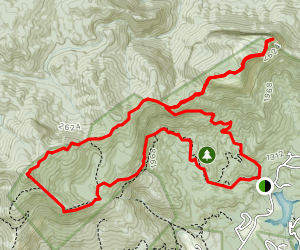 Table Rock Ridge Trail via Pinnacle Mountain Trail Map