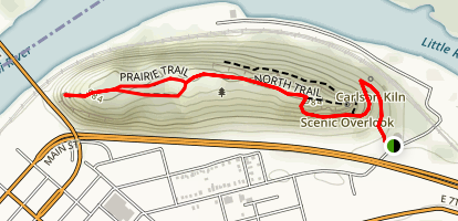 Barn Bluff Trail Map