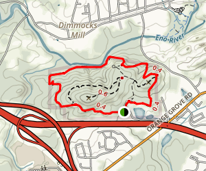 Occoneechee Mountain Loop Trail Map