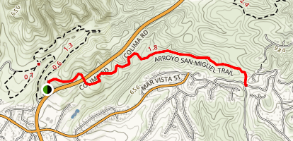 Arroyo San Miguel Trail Map